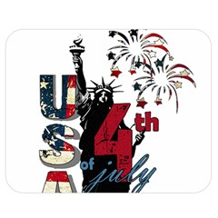 4th Of July Independence Day Double Sided Flano Blanket (medium)  by Valentinaart