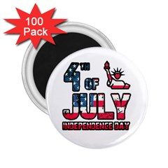 4th Of July Independence Day 2 25  Magnets (100 Pack)  by Valentinaart