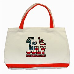 4th Of July Independence Day Classic Tote Bag (red) by Valentinaart