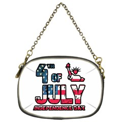 4th Of July Independence Day Chain Purses (one Side)  by Valentinaart