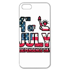 4th Of July Independence Day Apple Seamless Iphone 5 Case (clear) by Valentinaart