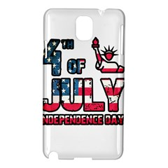 4th Of July Independence Day Samsung Galaxy Note 3 N9005 Hardshell Case by Valentinaart