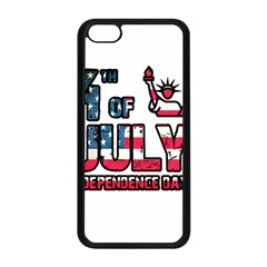 4th Of July Independence Day Apple Iphone 5c Seamless Case (black) by Valentinaart