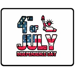 4th Of July Independence Day Double Sided Fleece Blanket (medium)  by Valentinaart