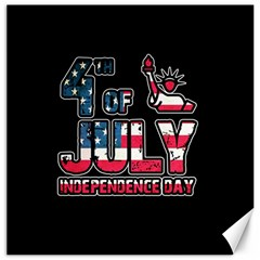 4th Of July Independence Day Canvas 16  X 16   by Valentinaart