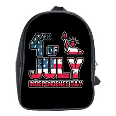4th Of July Independence Day School Bags(large)  by Valentinaart