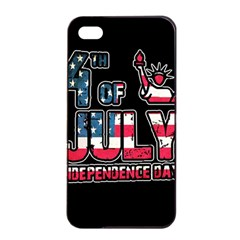 4th Of July Independence Day Apple Iphone 4/4s Seamless Case (black) by Valentinaart