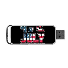 4th Of July Independence Day Portable Usb Flash (two Sides) by Valentinaart