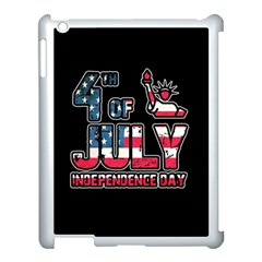 4th Of July Independence Day Apple Ipad 3/4 Case (white) by Valentinaart