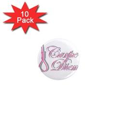 Carpe Diem  1  Mini Magnet (10 Pack)  by Valentinaart