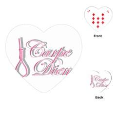 Carpe Diem  Playing Cards (heart)  by Valentinaart