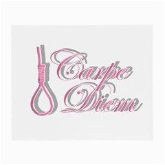 Carpe Diem  Small Glasses Cloth (2 Side) by Valentinaart