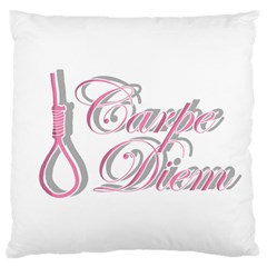 Carpe Diem  Large Flano Cushion Case (two Sides) by Valentinaart