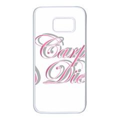 Carpe Diem  Samsung Galaxy S7 White Seamless Case by Valentinaart