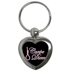 Carpe Diem  Key Chains (heart)  by Valentinaart