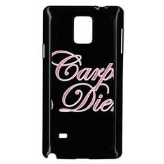 Carpe Diem  Samsung Galaxy Note 4 Case (black) by Valentinaart