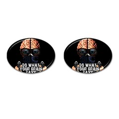 Do What Your Brain Says Cufflinks (oval) by Valentinaart