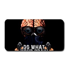 Do What Your Brain Says Medium Bar Mats by Valentinaart