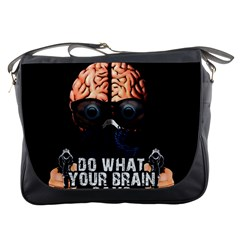 Do What Your Brain Says Messenger Bags by Valentinaart