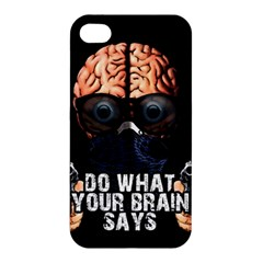 Do What Your Brain Says Apple Iphone 4/4s Premium Hardshell Case by Valentinaart