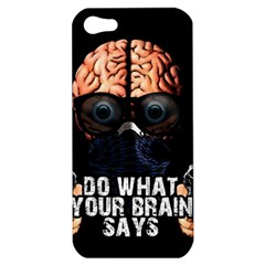 Do What Your Brain Says Apple Iphone 5 Hardshell Case by Valentinaart