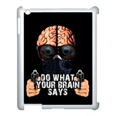 Do What Your Brain Says Apple Ipad 3/4 Case (white) by Valentinaart