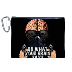 Do What Your Brain Says Canvas Cosmetic Bag (xl) by Valentinaart