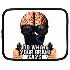 Do What Your Brain Says Netbook Case (xl)  by Valentinaart
