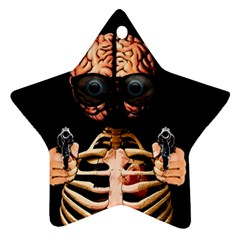 Do What Your Brain Says Star Ornament (two Sides) by Valentinaart