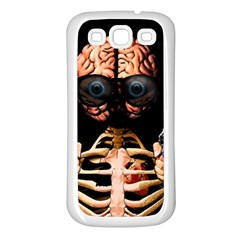 Do What Your Brain Says Samsung Galaxy S3 Back Case (white) by Valentinaart