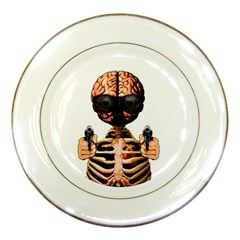 Do What Your Brain Says Porcelain Plates by Valentinaart