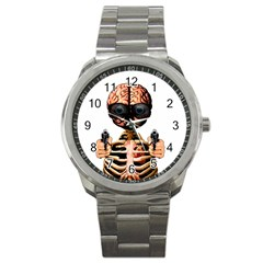 Do What Your Brain Says Sport Metal Watch by Valentinaart