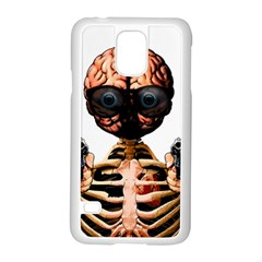 Do What Your Brain Says Samsung Galaxy S5 Case (white) by Valentinaart