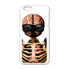 Do What Your Brain Says Apple Iphone 6/6s White Enamel Case by Valentinaart