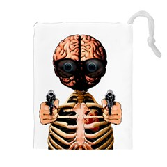 Do What Your Brain Says Drawstring Pouches (extra Large) by Valentinaart