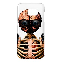 Do What Your Brain Says Samsung Galaxy S7 Edge Hardshell Case by Valentinaart