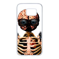 Do What Your Brain Says Samsung Galaxy S7 Edge White Seamless Case by Valentinaart