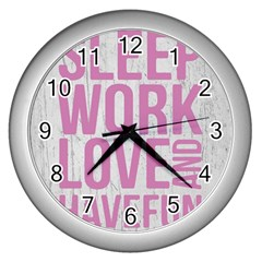 Grunge Style Motivational Quote Poster Wall Clocks (silver)  by dflcprints