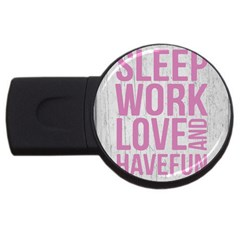 Grunge Style Motivational Quote Poster Usb Flash Drive Round (2 Gb) by dflcprints