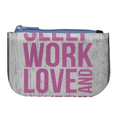 Grunge Style Motivational Quote Poster Large Coin Purse by dflcprints
