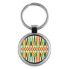 Festive Pattern Key Chains (round)  by linceazul