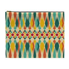 Festive Pattern Cosmetic Bag (xl) by linceazul