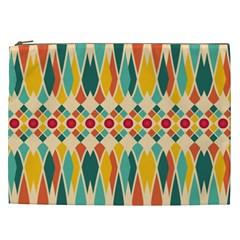Festive Pattern Cosmetic Bag (xxl)  by linceazul