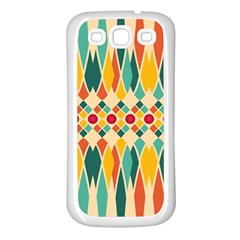 Festive Pattern Samsung Galaxy S3 Back Case (white) by linceazul