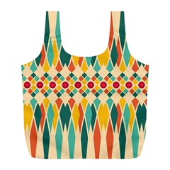 Festive Pattern Full Print Recycle Bags (l)  by linceazul