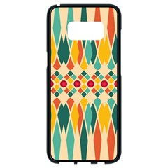 Festive Pattern Samsung Galaxy S8 Black Seamless Case by linceazul