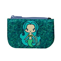 Aqua Mermaid Coin Change Purse by Ellador