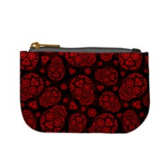 Sugar Skulls   Red Coin Change Purse by Ellador