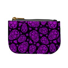 Sugar Skulls   Purple Coin Change Purse by Ellador