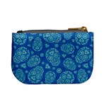 Sugar Skulls - Baby Blue Coin Change Purse Back